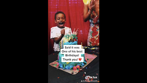 Family & friends make this little boy's birthday extra special