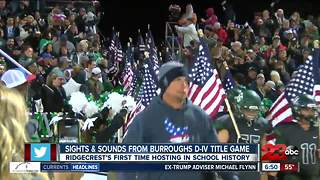 Sights/sounds from the first section title game at Burroughs High School - Video