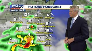 Storms, showers to pop-up this evening