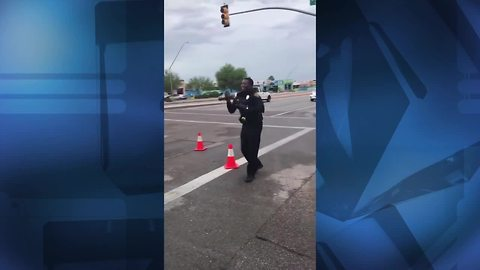 Viral: Tucson cop shows off his dance moves