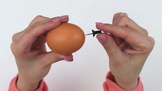 The simple trick to shell a boiled egg in seconds - Video