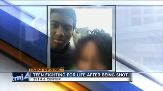 Teen fighting for his life after being shot