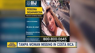 Tampa woman goes missing during trip in Costa Rica - Video