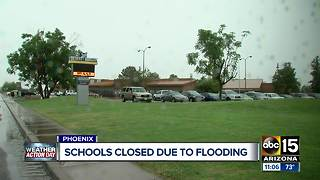 Schools closed due to Valley flooding