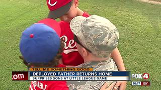 Deployed father returns home - Video