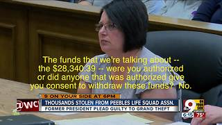 Former Peebles Life Squad president pleads guilty to grand theft - Video
