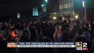Brooklyn Park teen killed in hit-and-run remembered by packed crowd at vigil - Video