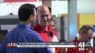 41 Action News weather team greets fans Saturday