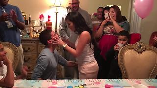 Gender Reveal Party Turns Into Surprise Proposal