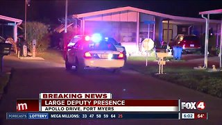 Large deputy presence in Fort Myers mobile home park overnight
