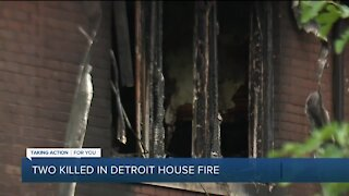 Two killed in Detroit house fire