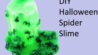DIY Halloween spider slime - Video