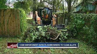 Tampa code enforcement asking homeowners to clear alleys - Video