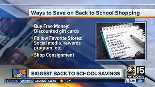Biggest back-to-school savings - Video