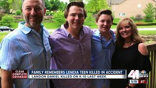 Family remembers Lenexa teen, talks about his legacy