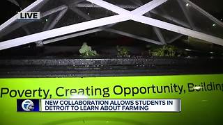 Mobile farm aims to help students in Detroit learn about farming - Video