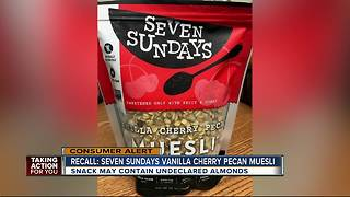 Recall:Seven Sundays Vanilla Cherry Pecan Muesli - Video
