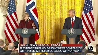 Special report: Trump answers questions after press conference with Prime Minister of Norway - Video