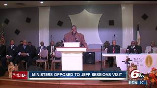 Indianapolis ministers against Jeff Sessions visit