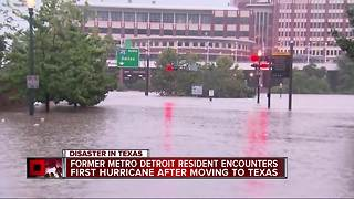 Former Metro Detroit resident encounters first hurricane after moving to Texas - Video