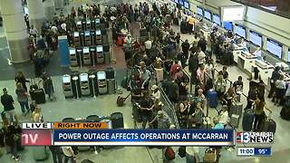 Power outage affects operations at McCarran - Video