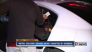 Robbers targeting Las Vegas pizza delivery drivers - Video