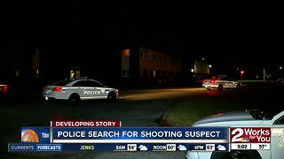 Tulsa Police search for suspect from West Tulsa shooting - Video