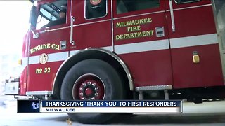 Thanking first responders this Thanksgiving - Video