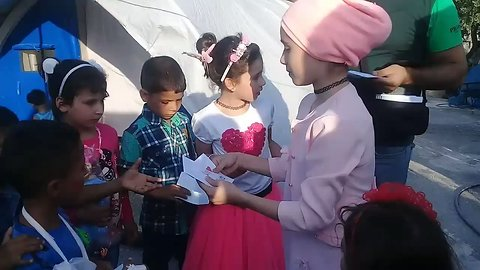 Noor and Alaa, Children from East Ghouta, Return to Syria to Visit Refugee Camp