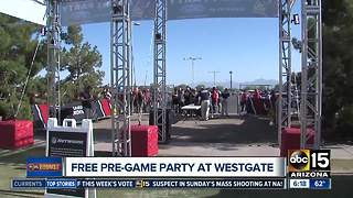 Free Cardinals pre-game tailgate at Westgate on Monday
