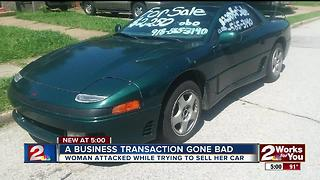 Woman attacked while trying to sell car - Video