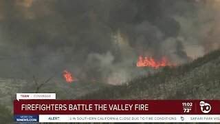 Firefighters battle the Valley Fire