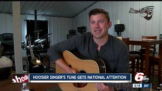 Hoosier singer's tune gets national attention - Video