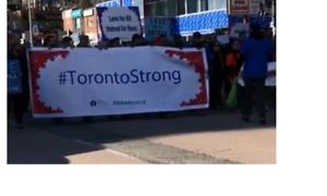 Toronto Marchers Honour Van Attack Victims - Video