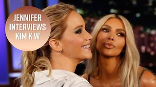The wildest questions Jennifer Lawrence asked Kim K - Video