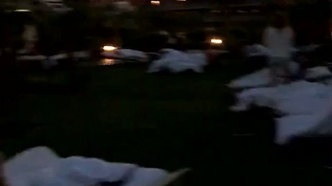Kos Tourists Camp Outside Hotel in Earthquake Aftermath