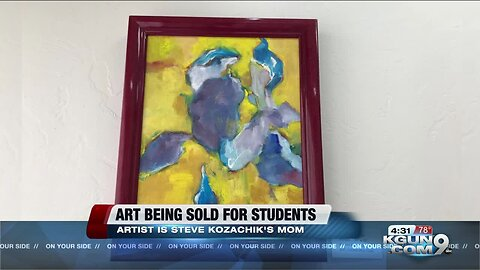 Artwork by council member's late mother going to student scholarships