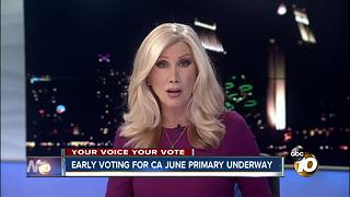 Early voting underway for June primary - Video