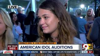 Cincinnati girl tries out for American Idol in Louisville, Ky. - Video