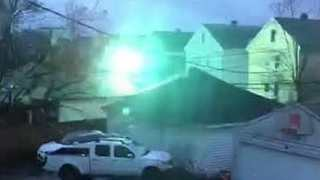 High Winds Cause Power Lines to Spark in Buffalo, NY - Video