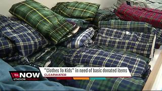 'Clothes To Kids' in need of basic donated items - Video