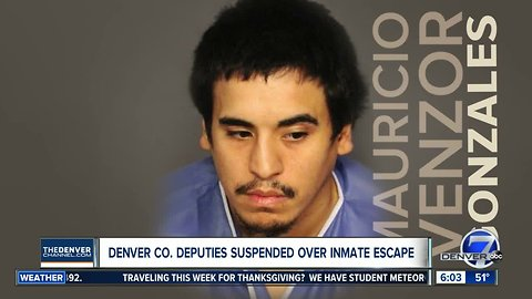 Two Denver sheriff's deputies suspended for failing to restrain inmate who escaped at Denver Health