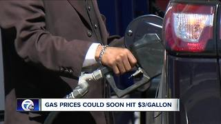 Gas prices are increasing