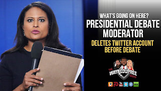 Why Would The 3rd Presidential Debate Moderator Delete Her Twitter Account?