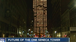 One Seneca Tower lights up downtown Buffalo - Video