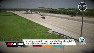 Investigation into road-rage stabbing along I-95 - Video