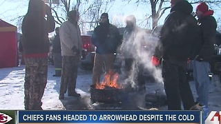 Below zero windchill no problem for Chiefs fans - Video