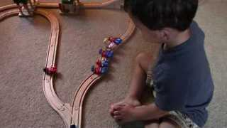 Two-Year-old Has a Surprising Solution for Train Puzzle - Video