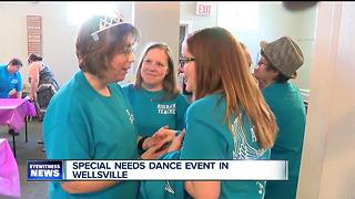 Rehearsing for a special needs dance showcase in Wellsville - Video
