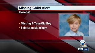 9-year-old boy missing from Malabar - Video